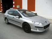PEUGEOT 407 SW averiado. LATERAL